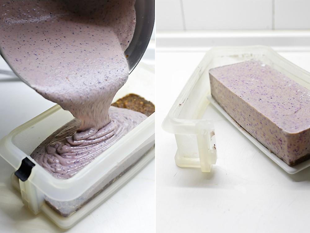Receta tarta helada de arándanos y anacardos 7