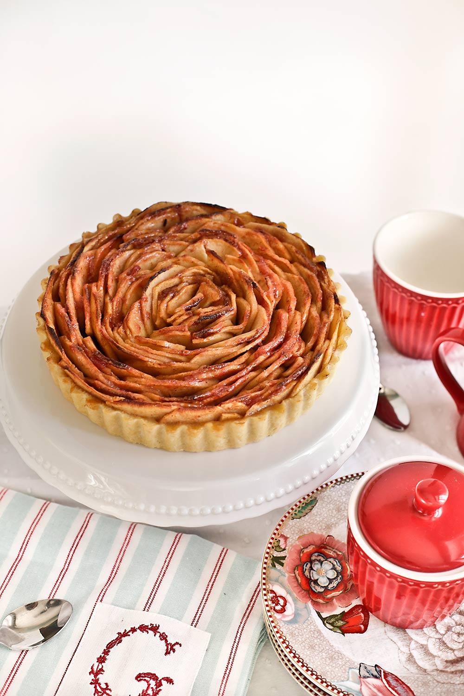 Receta tarta rosa de manzana 1