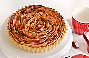 Tarta rosa de manzana