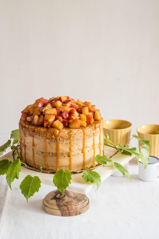 receta layer cake manzana caramelo