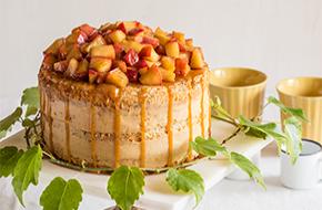 Layer cake de manzana y caramelo