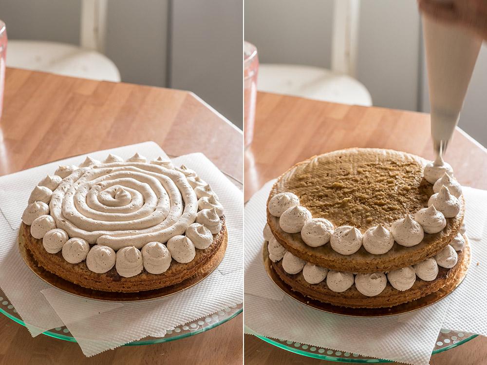 receta layer cake rollos canela
