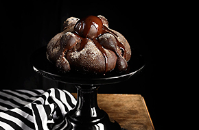 Pan de muerto de chocolate