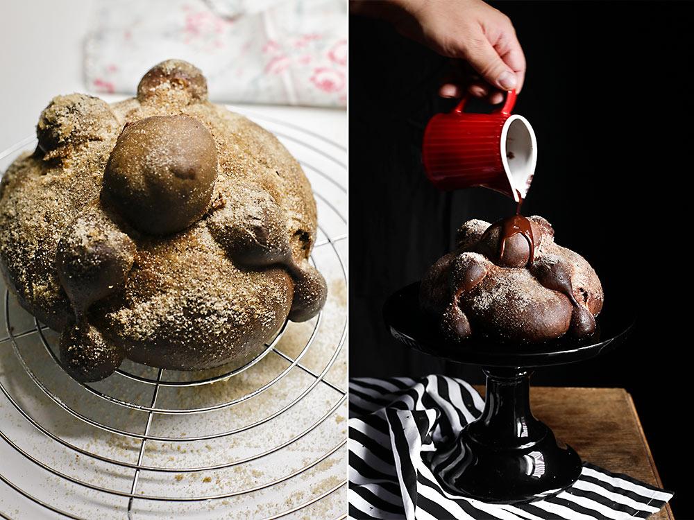 Receta pan de muerto de chocolate 9