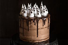 Tarta de chocolate y calabaza para Halloween