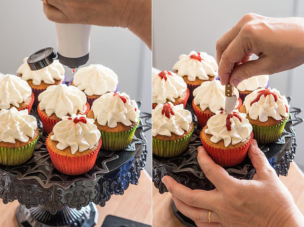 receta cupcakes sangrientos