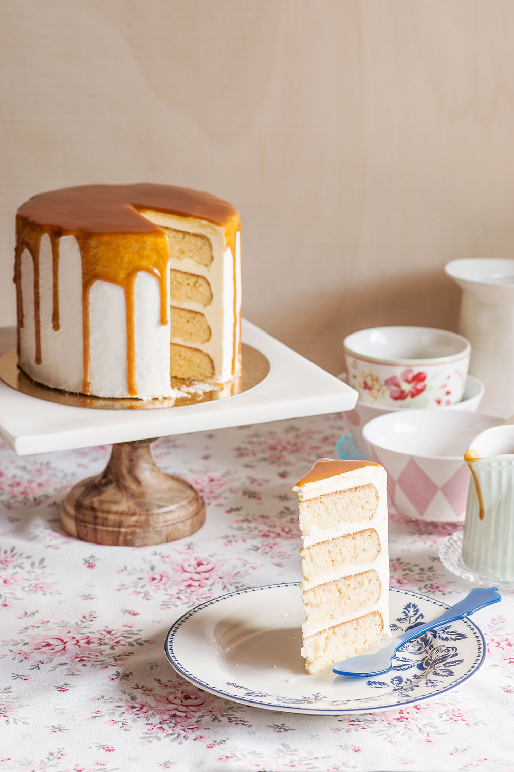 receta layer cake miel