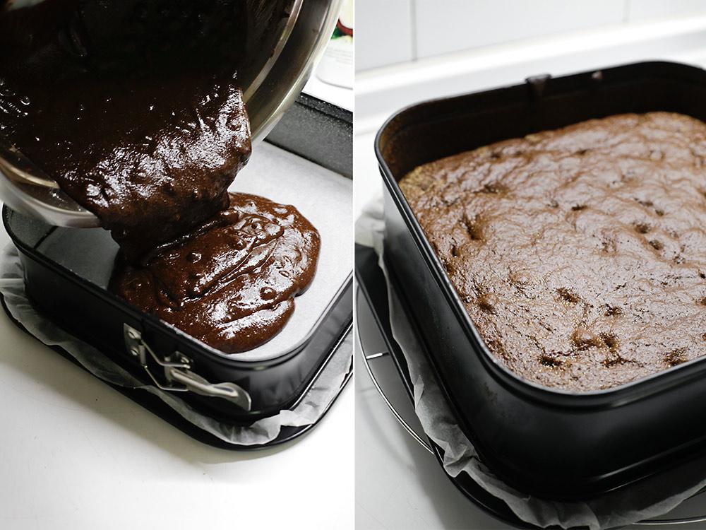 Receta brownie sano de tahini 5