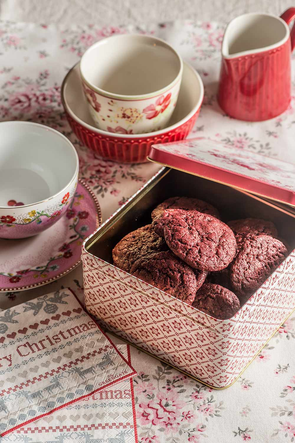 receta cookies red velvet chips chocolate