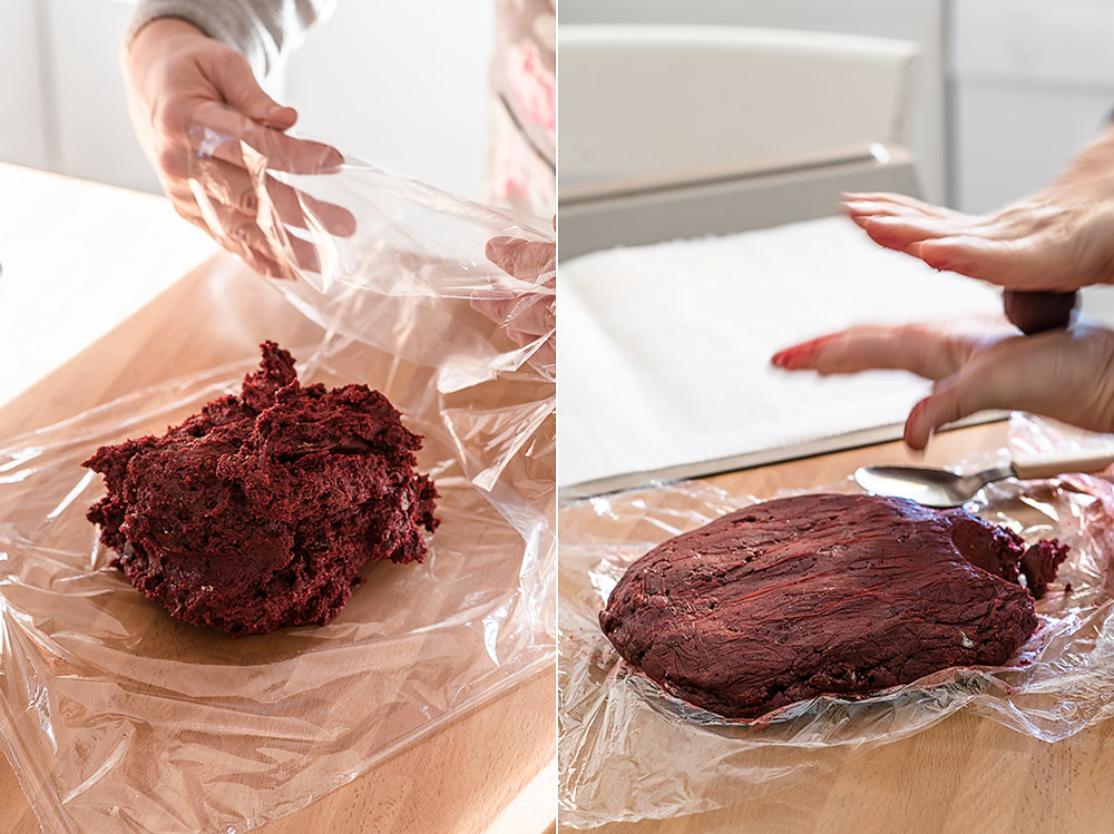 receta cookies red velvet chips chocolate