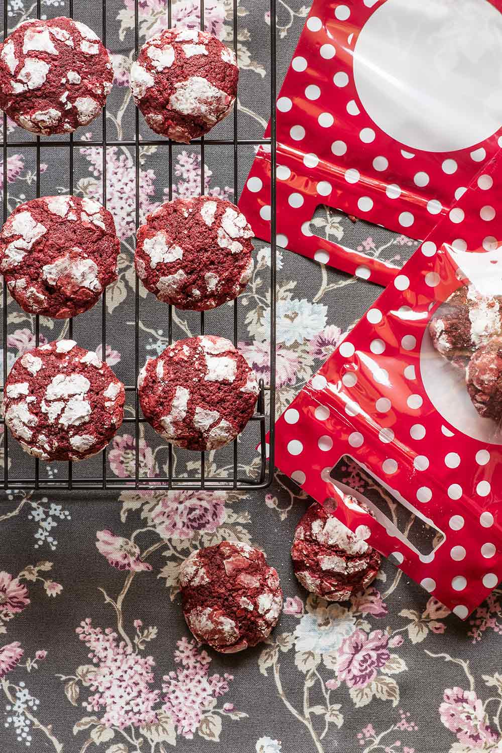 receta crinkled cookies red velvet