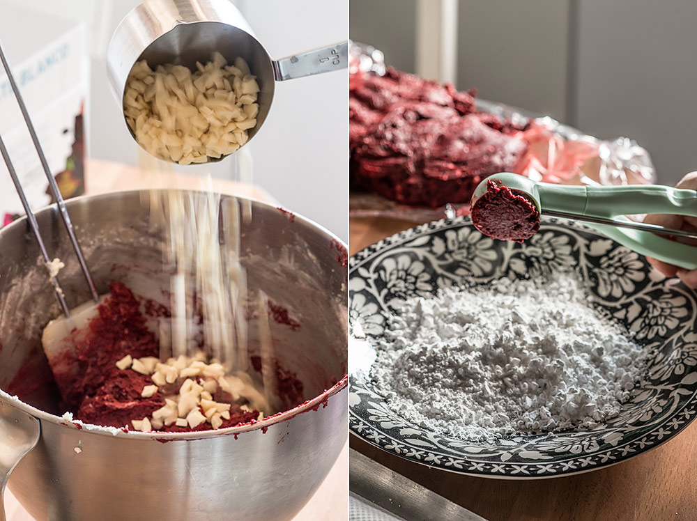 receta crinkled cookies red velvet