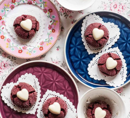 receta galletas red velvet san valentin