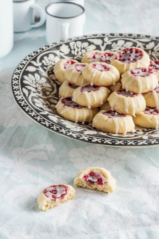 receta galletas shortbread frambuesa
