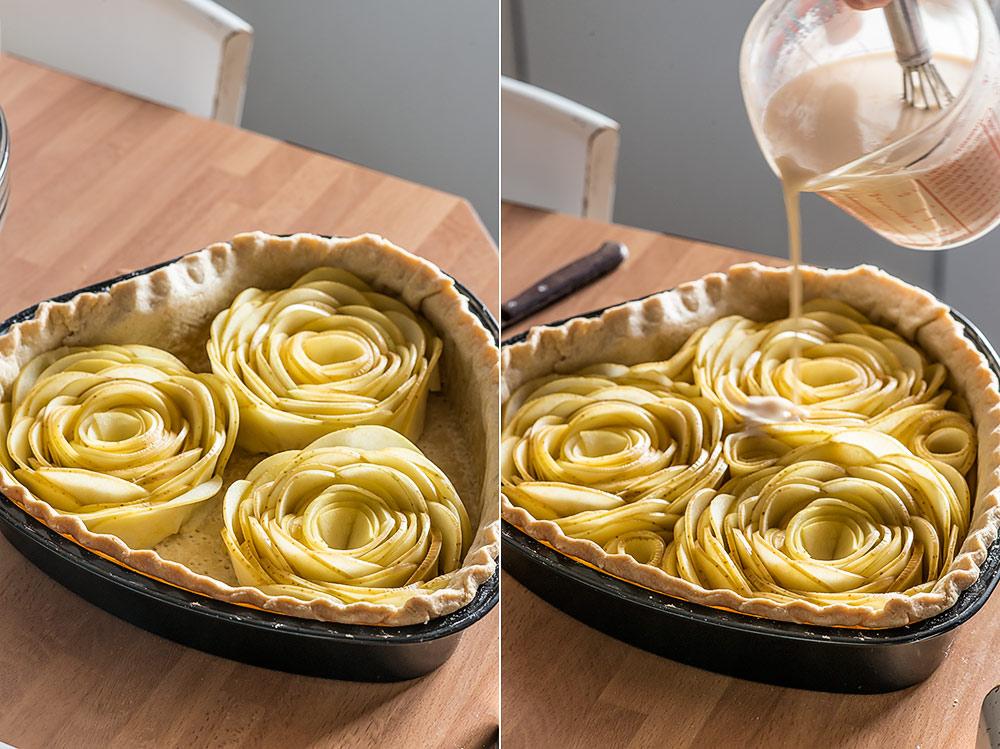 receta tarta corazon manzana