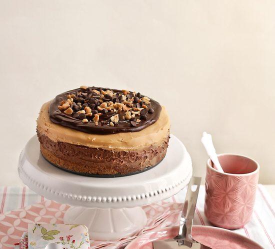 Receta cheesecake de chocolate y mantequilla de cacahuete