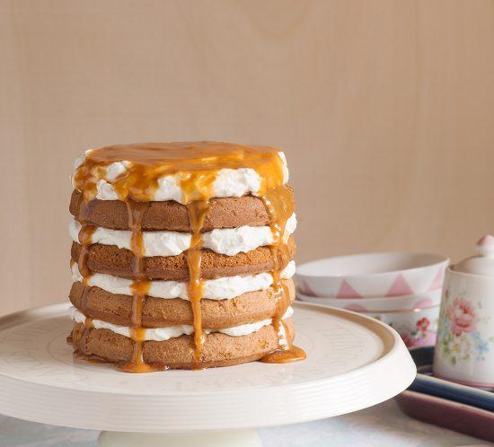 receta layer cake miel whisky