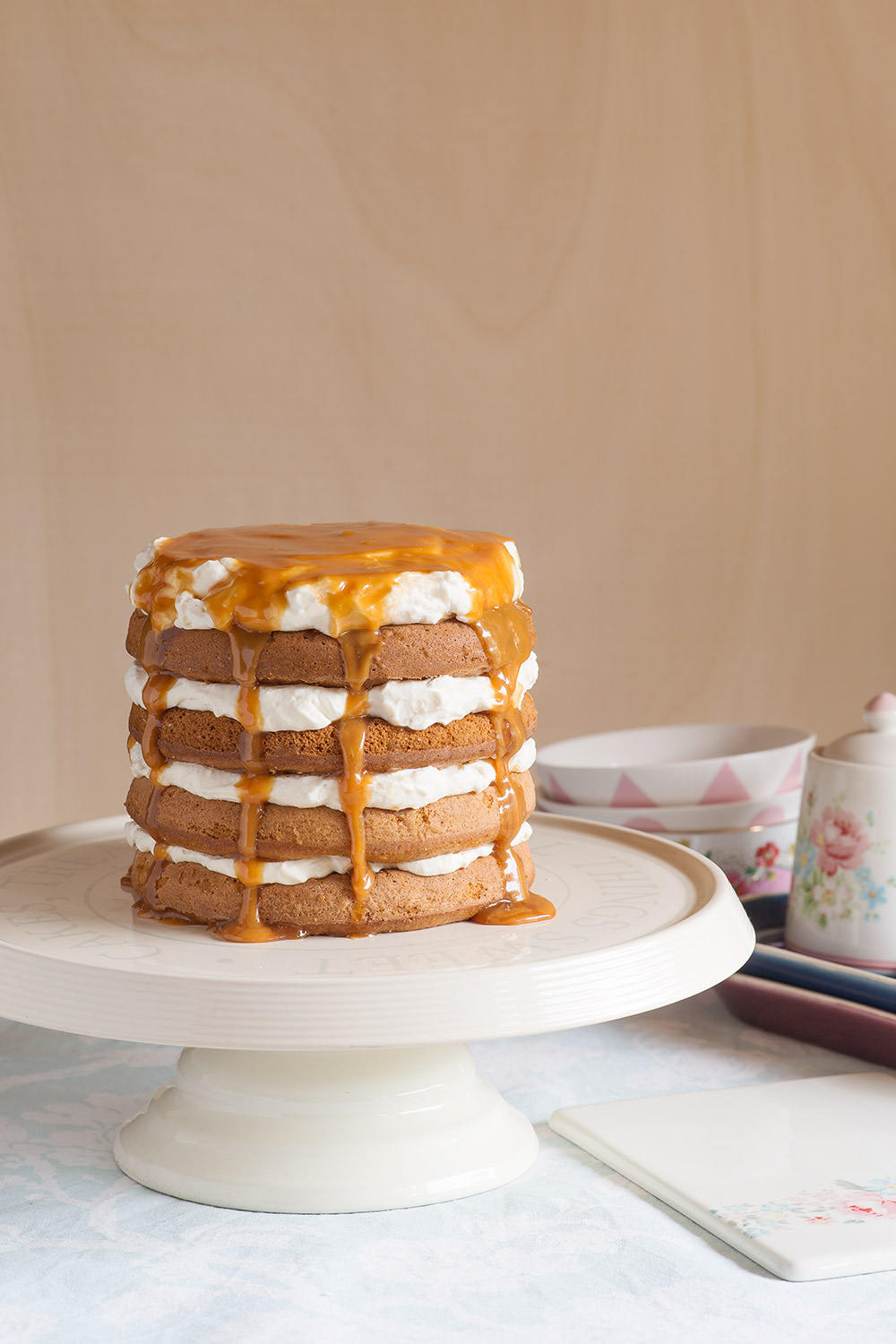receta layer cake miel whisky