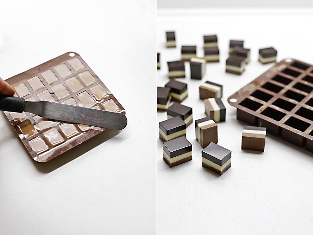 Receta bombones tres chocolates 5