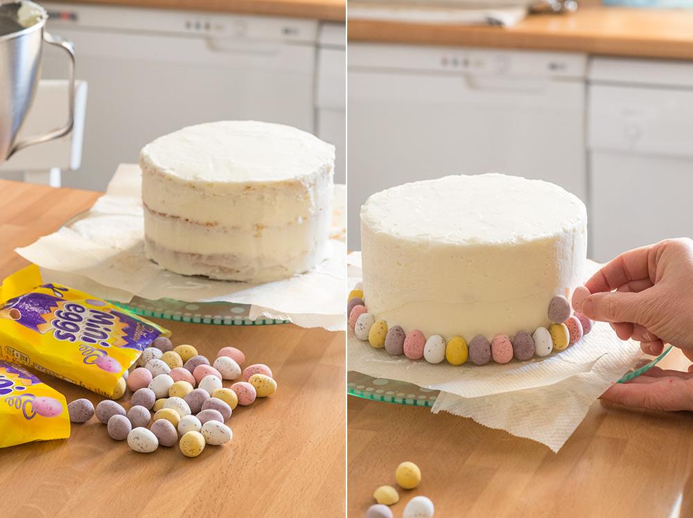 receta layer cake huevitos pascua