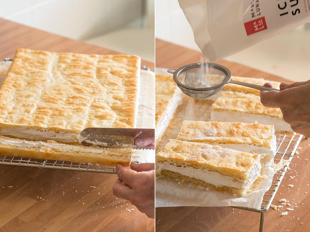 receta milhojas merengue