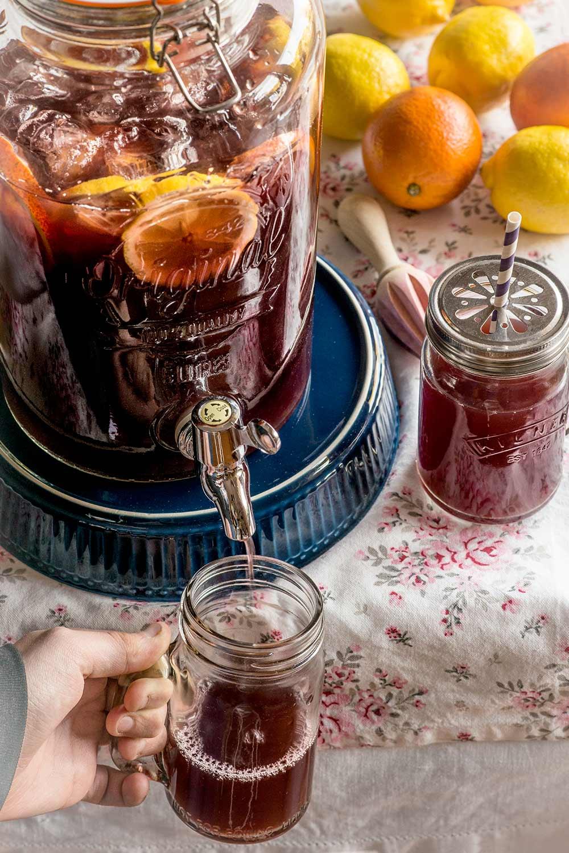 receta sangria frutas