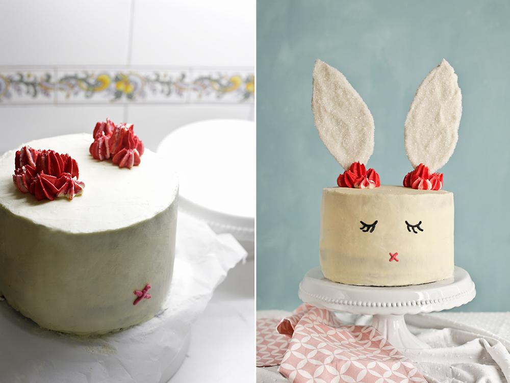 Receta tarta conejo de Pascua 9