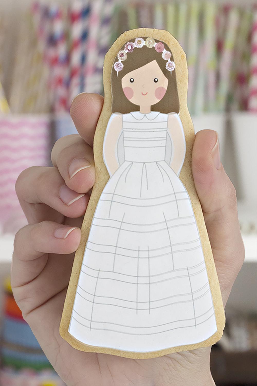 Cómo decorar galletas de comunión con papel de azúcar
