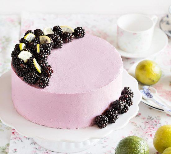 receta layer cake moras