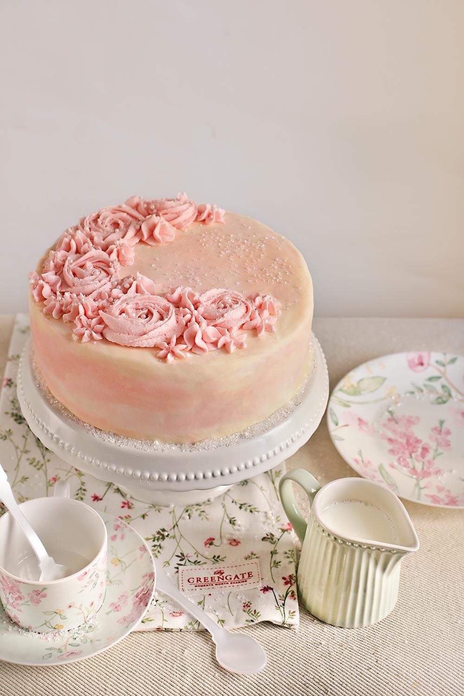 Receta layer cake de vainilla y agua de rosas 1