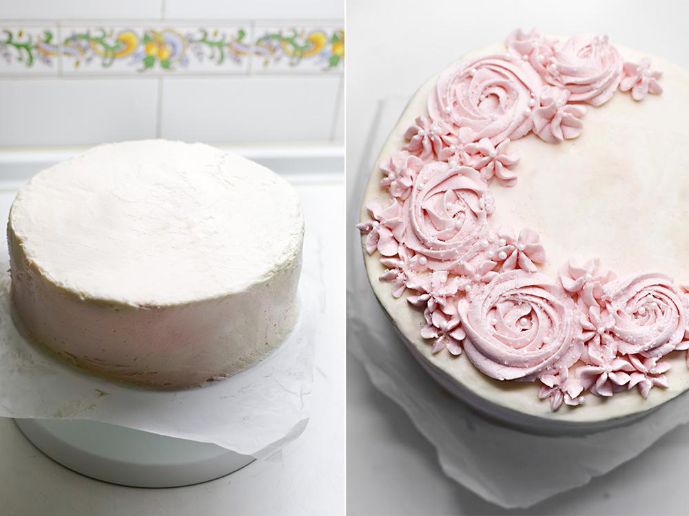 Receta layer cake de vainilla y agua de rosas 8