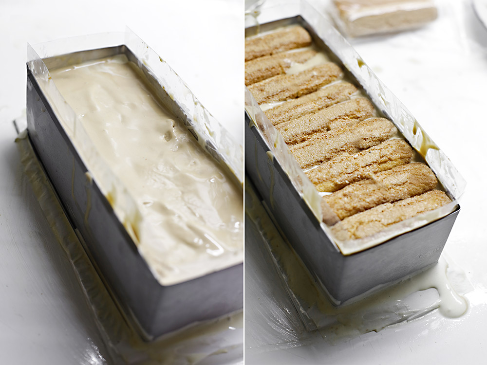 Receta layer cake helado de tiramisú