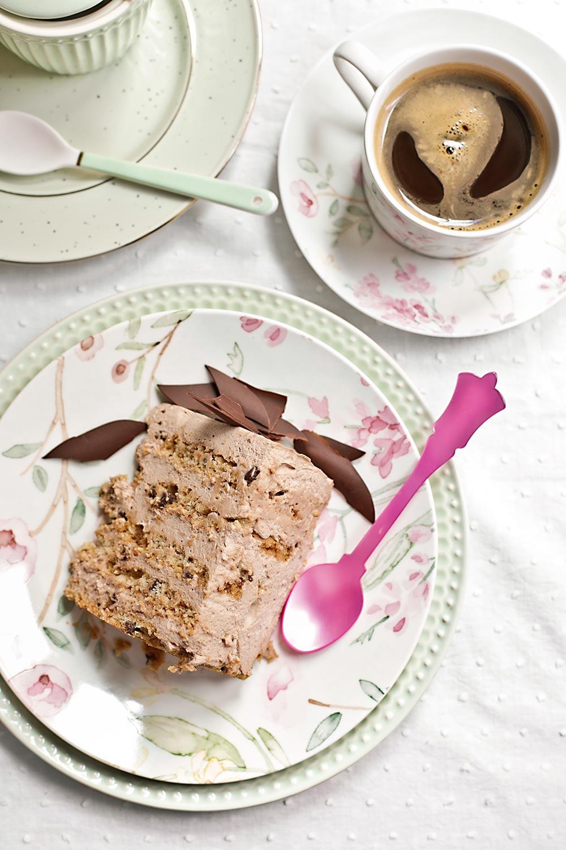 Tarta de moca y cookies de chocolate