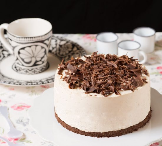receta tarta mousse cafe