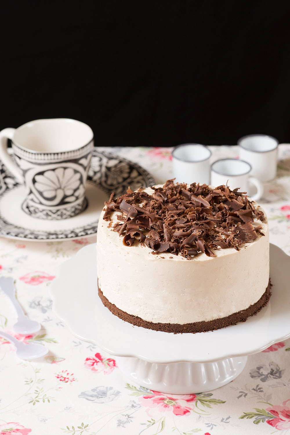 receta tarta mousse cafe