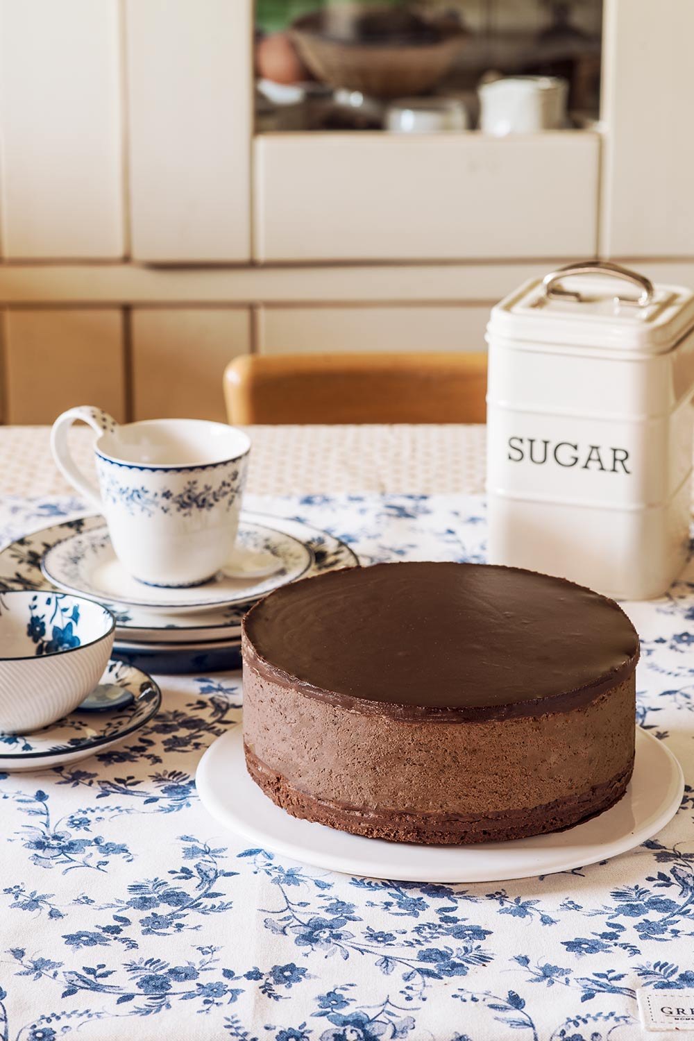 receta dark chocolate mousse cake