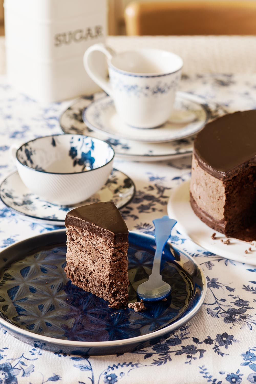 receta dark chocolate mousse cake