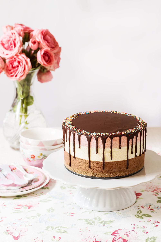 receta tarta fresa chocolate