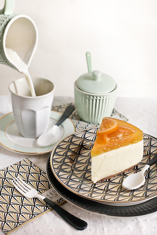 Receta tarta mousse de naranja