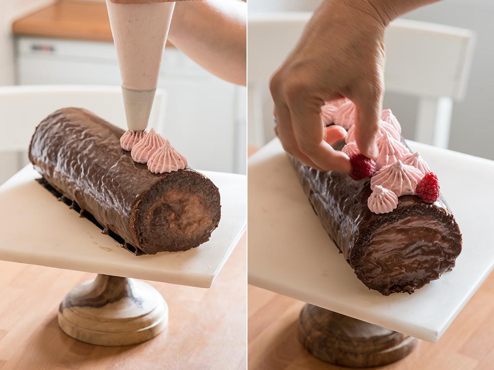 receta brazo gitano chocolate frambuesa