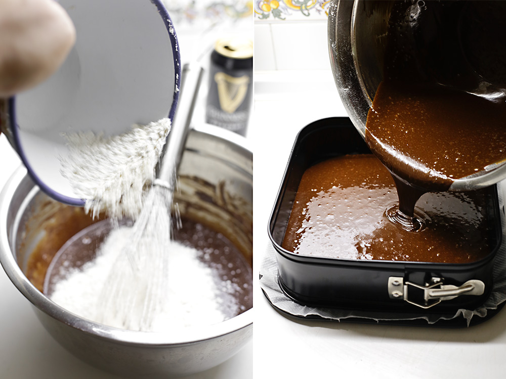 Receta brownies de Guinness