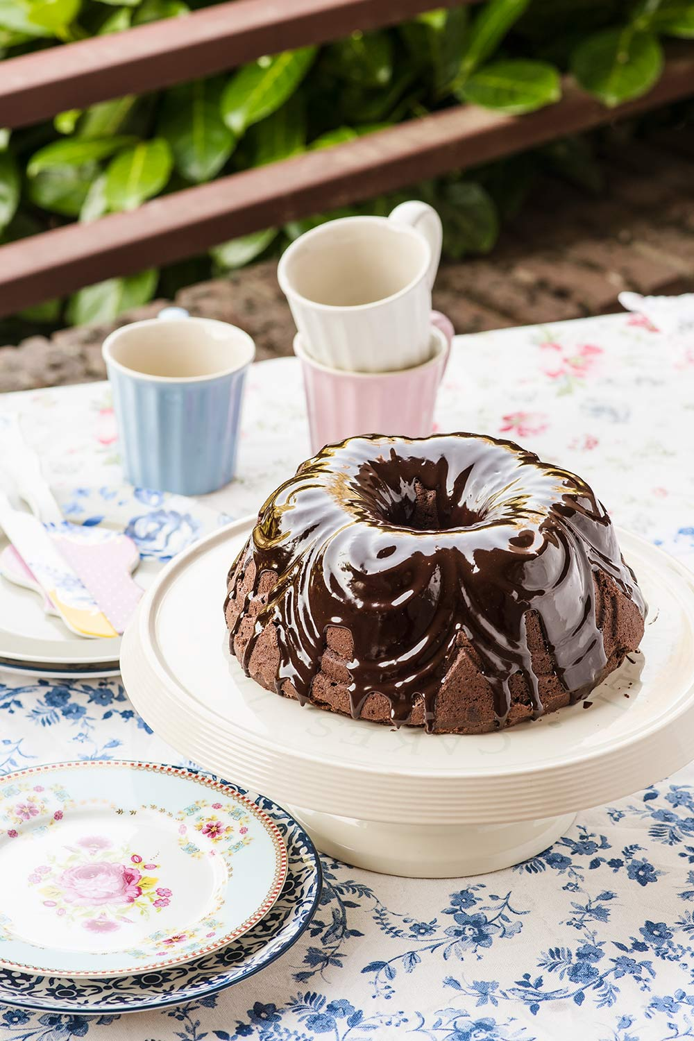 receta bundt cake chocolate vino