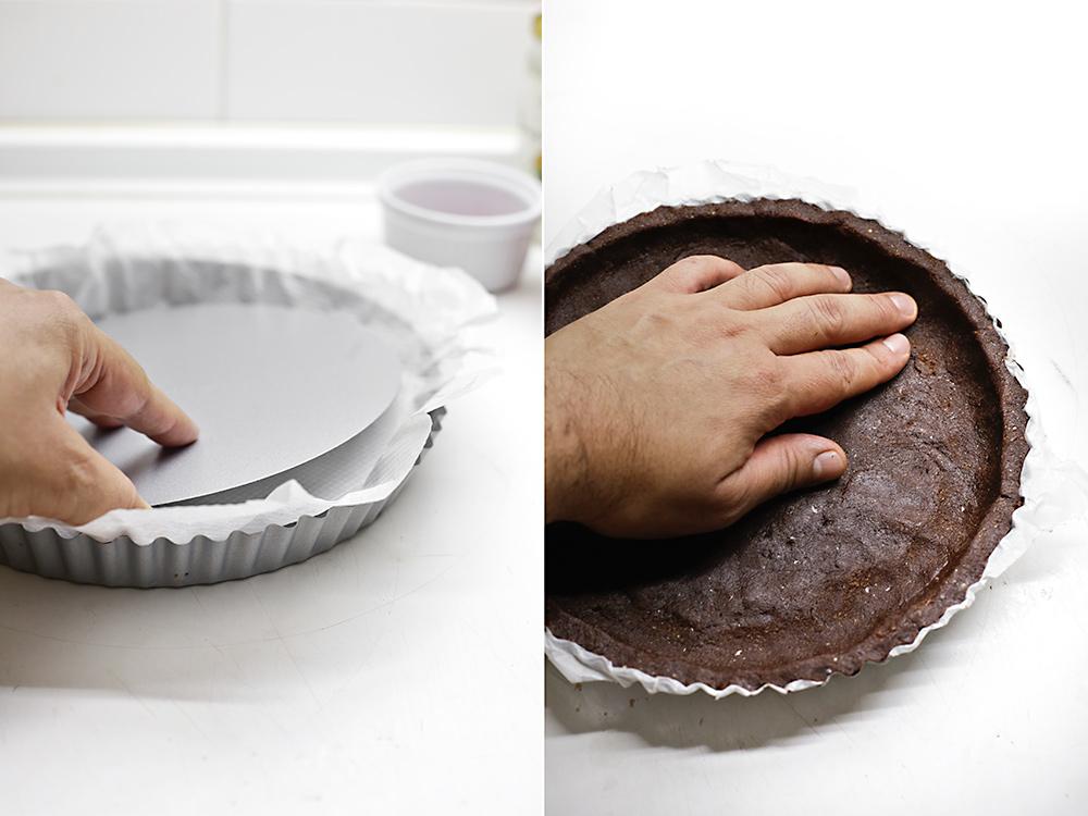 Receta tarta mousse vegana de chocolate y frambuesa