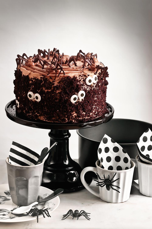 Receta tarta de chocolate negro para Halloween