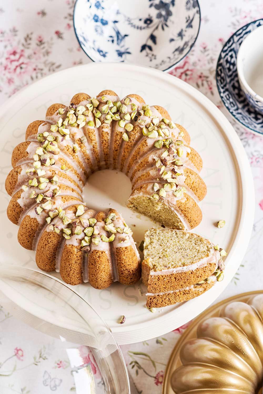 receta bundt cake aceite pistachos