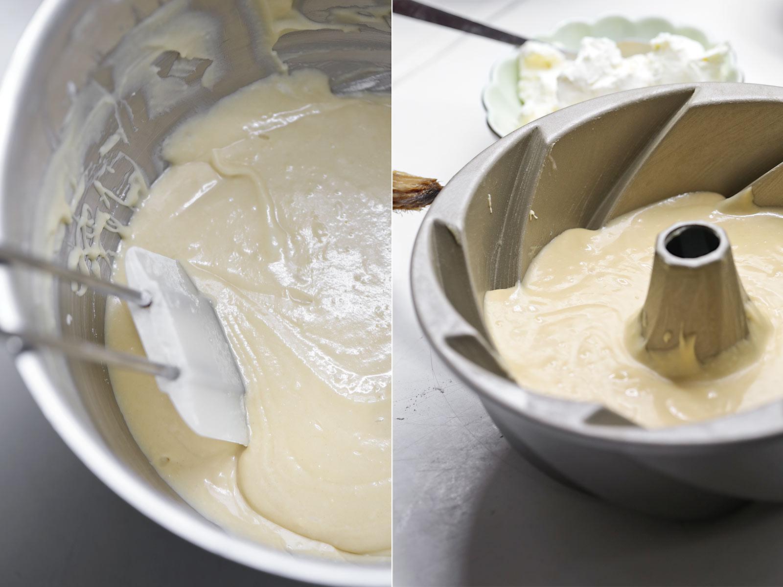 Receta bundt cake de queso y tres leches