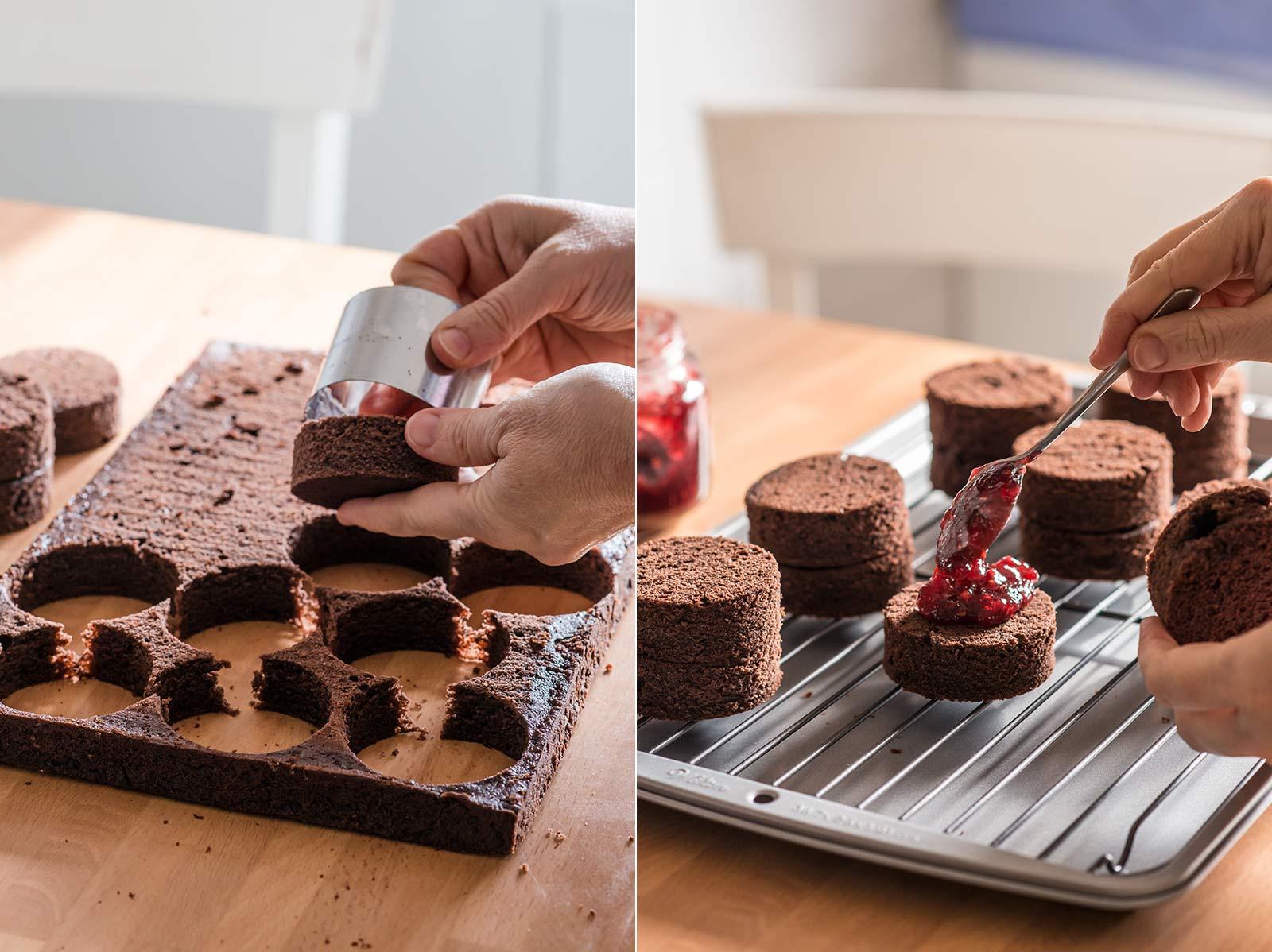 receta minicakes navidad chocolate