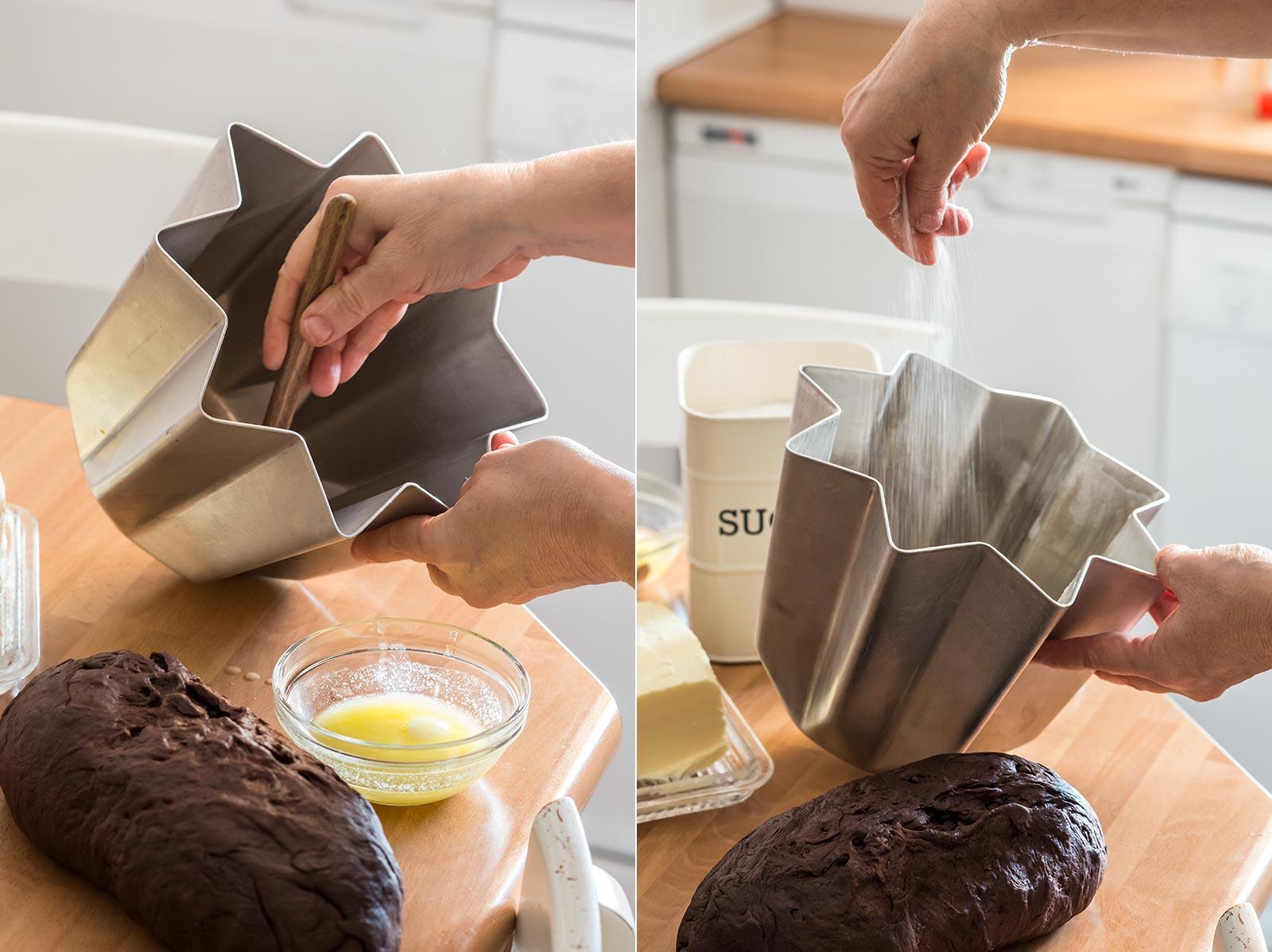 receta pandoro navidad chocolate