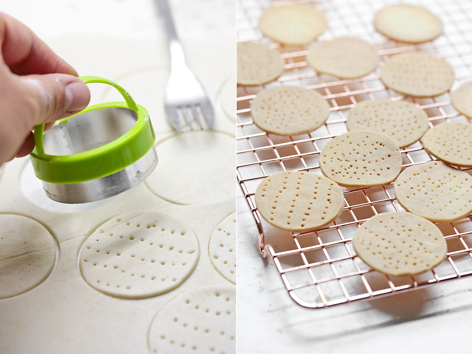 Receta crackers de arroz