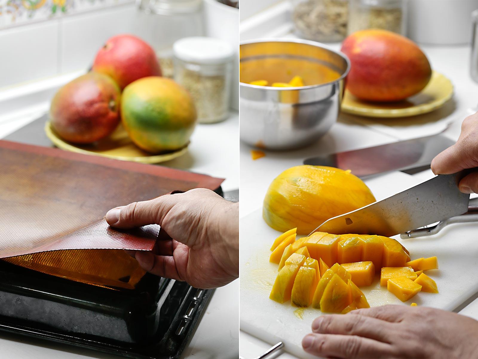 Receta lenguas regaliz de mango